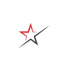 star logo template icon vector image