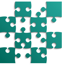 teal puzzle pieces - jigsaw - field for chess vector image