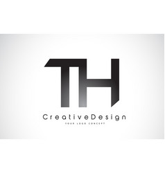 Th t h letter logo design creative icon modern vector