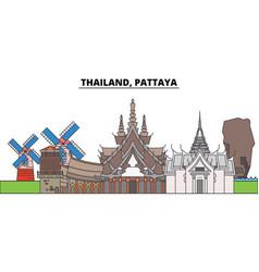 Thailand pattaya city skyline architecture vector