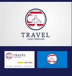 Travel northern cyprus creative circle flag logo vector