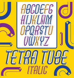 Trendy vintage capital english alphabet letters vector