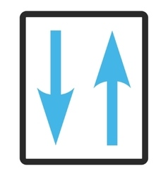 Vertical Exchange Arrows Framed Icon vector