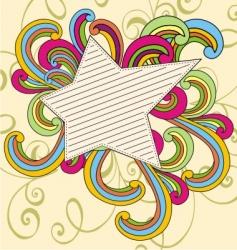 Vintage doodle star vector