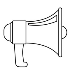 vintage megaphone icon outline style vector image
