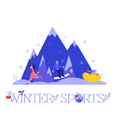 winter sports with people vector image