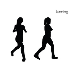 Woman in running pose vector