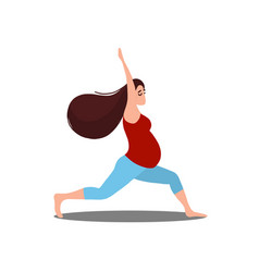 Yoga training for healthy pregnancy vector