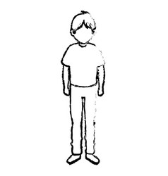 Young man avatar character isometric vector