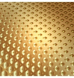 abstract metal gold background with squares vector image vector image