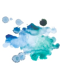 Abstract watercolor aquarelle hand drawn blue art vector image vector image