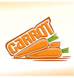 carrot still life vector image vector image