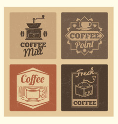 coffee shop market or cafe or restaurant vintage vector image vector image