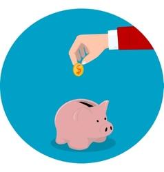 Financial icon vector image