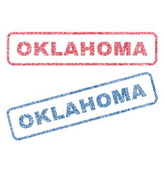 Oklahoma textile stamps vector