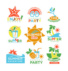 summer holidays and travel adventure or party vector image vector image