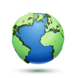3d of the globe earth isolated on white vector image