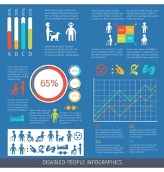 Disabled people infographic vector image vector image