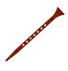 Flute flat icon vector image