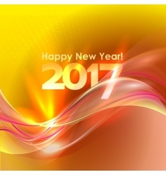Happy new year background with blue wave vector