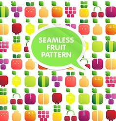Seamless pattern of fruits and berries with leaves vector image