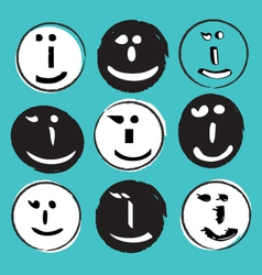 text wink face vector image vector image