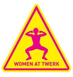 women at twerk sign vector image