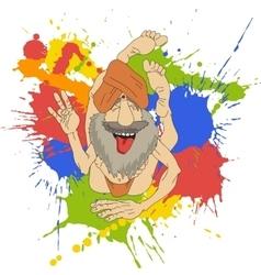 Funny Indian Yogi vector image