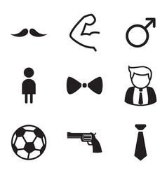 gentleman icons symbol set vector image vector image