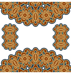 Gold embroidery vector image vector image