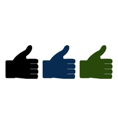 I like hand vector image vector image