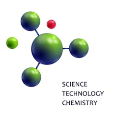 Molecule Science technology chemistry vector image