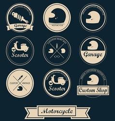 Motorcycle Shop Label Design vector image vector image