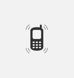 object of phone web line isolated icon vector image