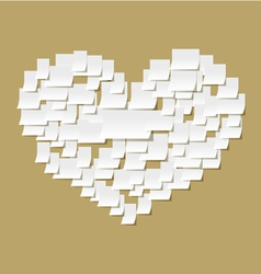 Office notes heart vector image