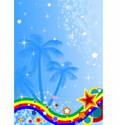 tropical abstract background vector image vector image