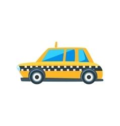 Yellow Taxi Toy Cute Car Icon vector image vector image