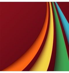 Abstract background with colorful curved lines vector image vector image