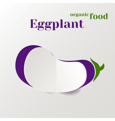 Abstract Paper Eggplant vector image vector image