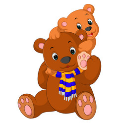 cartoon funny bear vector image vector image