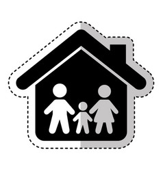 family insurance silhouette icon vector image vector image