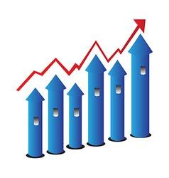 Grow chart vector image vector image