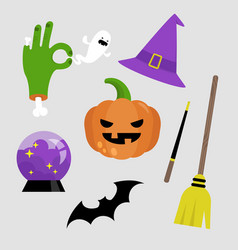 halloween sticker pack set of halloween icons vector image