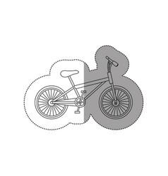 sticker contour of small sport bike icon flat vector image vector image