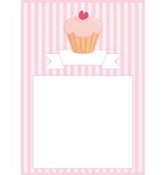 Sweet retro cupcake restaurant menu card vector image