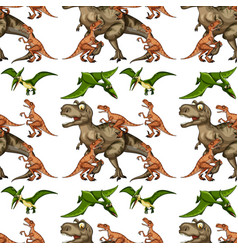 a dinosaur seamless pattern vector image