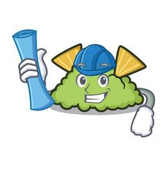 Architect guacamole character cartoon style vector