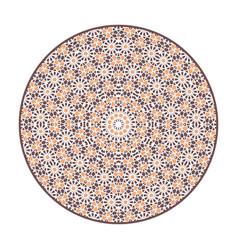 Asian geometric mandala vector