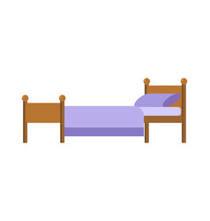 bed isolated blanket and pillow vector image