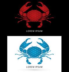 Big crab and big pincers vector